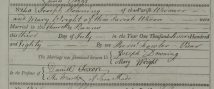 Marriage and death register entries (from Essex Record Office)