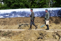 A reconstruction of a trench, which visitors could walk through.