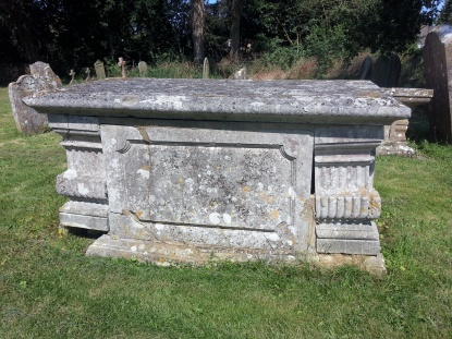 Grave of my 6th great grandfather, Richard Beale (!), who died in 1757