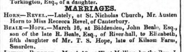 Beale Hope Marriage