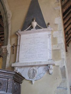 Beale plaque inside the church